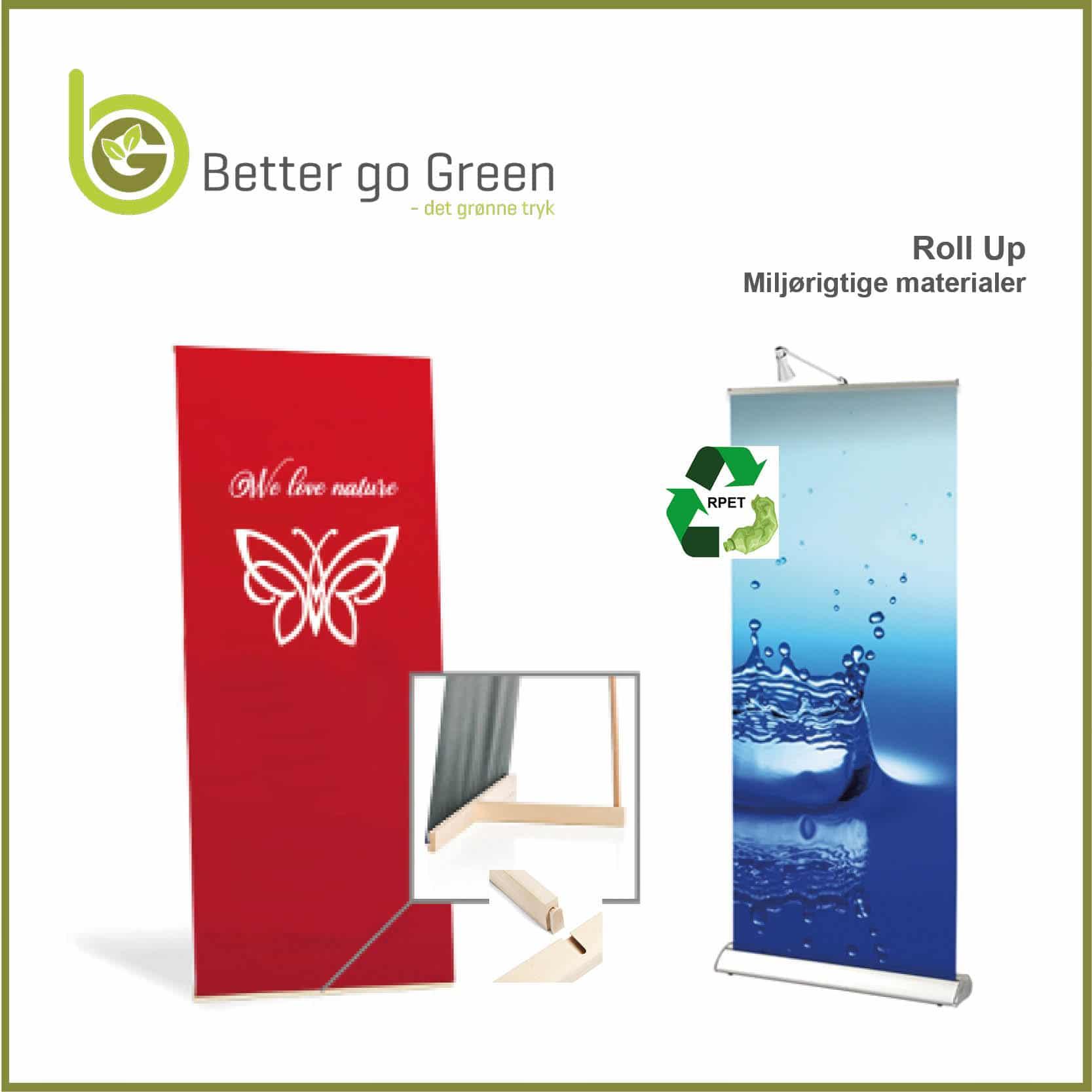 Roll Up i bæredygtige materialer. BetterGoGreen.dk